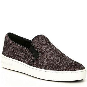 Michael Kors Keaton Glitter Fabric SlipOn Sneakers
